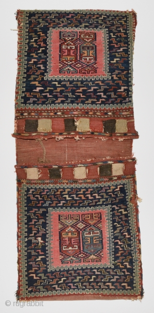 Caucasian Sileh saddle bag. Probably early 20th century. 132cm x 51cm