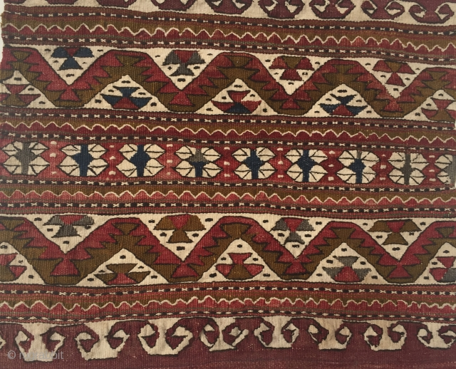 Anatolian Yagcibedir Kilim Cushion 38x37 cm