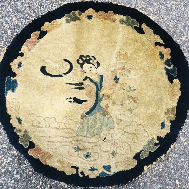 """Antique Round Chinese measuring 26"""""""