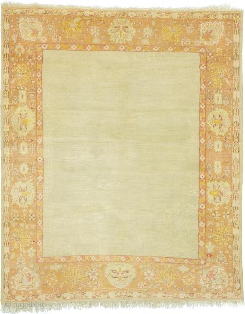 "Antique Turkish Oushak Rug Turkey ca.1890 12'3"" x 10'1"" (374 x 308 cm) FJ Hakimian Reference #04148"