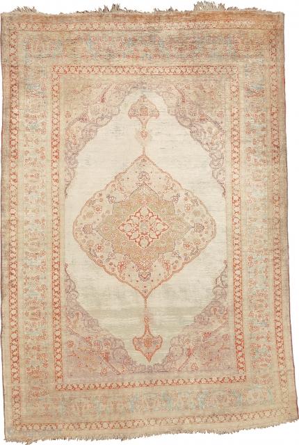 "Antique Persian Tabriz Silk Rug Persia ca.1890 5'9"" x 3'11"" (534 x 443 cm) FJ Hakimian Reference #07159"
