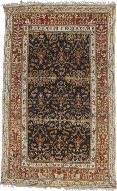 """Antique Indian Agra Rug India ca.1900 9'4"""" x 5'8"""" (285 x 173 cm) FJ Hakimian Reference #09067"""