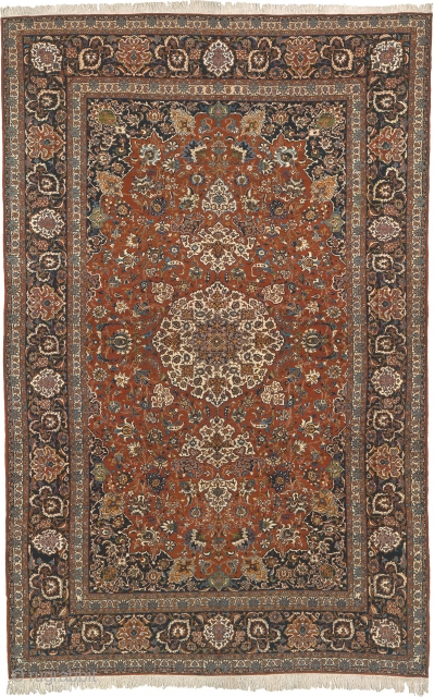"""Antique Persian Isfahan Rug Persia ca.1930 21'8"""" x 13'7"""" (660 x 414 cm) FJ Hakimian Reference #10007"""