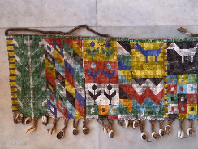 African Kerdi Bead work skirt (Cameroon). Approx 70 x 22 Cm.