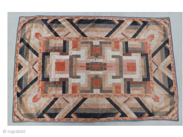 Amsterdam school, Art deco textile, Early 1900's. 1 small damage in the centre shown in the pictures. The textile has an almost quilt like design feel to it.
