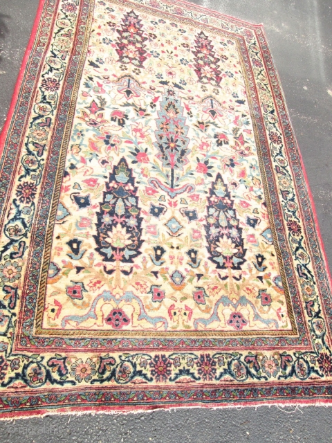 Awesome Antique Khorassan Oriental Rug.