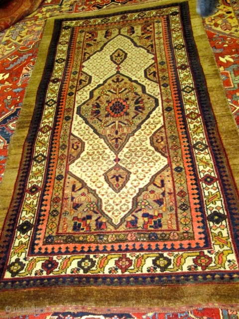 Antique north West Of Persian Rug.  size 4'x6'9''.condition very good full pile.no repair .ends and sides intact.