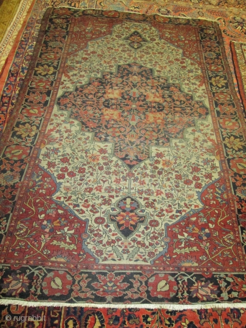 Antique Ferahan Sarouk Rug.