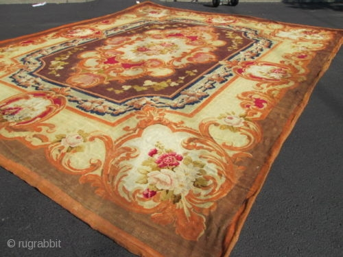 18th Century A Napoleon lll Aubusson Carpet France.