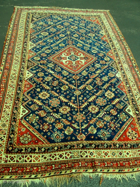 Antique Persian Qashgai Oriental Rug.