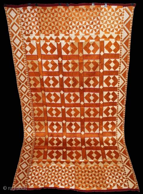 Phulkari from West(Pakistan)Punjab India.Very Rare Design.Extremely Fine Phulkari.(DSE01890).