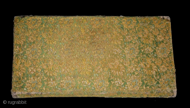 Jain Book Cover From Kutch Gujarat India.Its size is 14cmX27cm.(DSC01410).