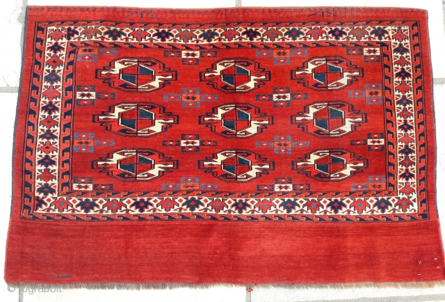 Antique Yomut chuval, great condition, good colours 46in by 31in