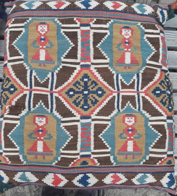 Scanian cushion, 19th century Some minor damage needs attention 23in by 22in