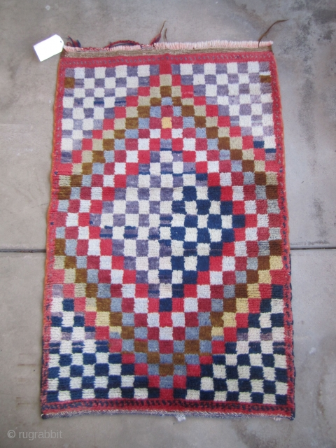 "Op-Art Karapinar Tulu....circa 1960...aniline dyes ...all wool...32"" x 51 "" 