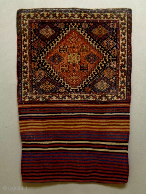 19th Century Fine Universal Qasqhay Bag Complete