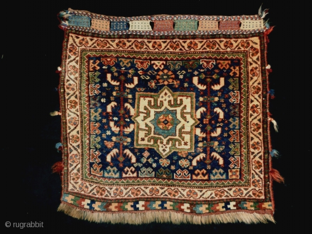 Very fine Kamseh bagface Size: 60x57cm (2.0x1.9ft) Natural colors (except one color is faded, see picture 12), made in circa 1910/20.