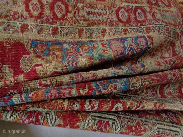 Early 19th Century Interesting Size Konya Kirkshehir  Size: 130x248cm Natural colors