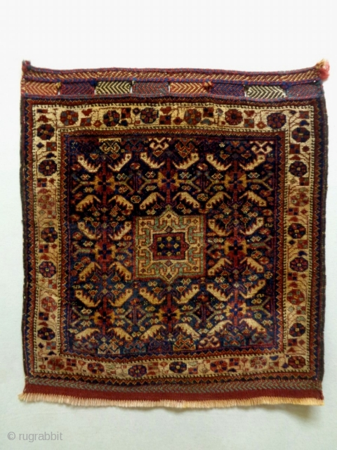 19th Century Fine Kamseh Bagface Size: 71x78cm Natural colors