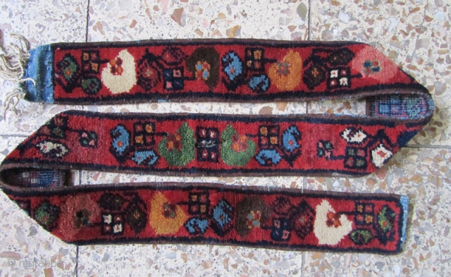 Bakhtiari armanian piled band in perfect condition,not washed,Size:161 x 8 cm