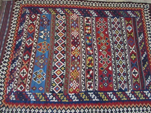 Qashqai kilim,very good texture,fine condition,Size:237 X 160 cm