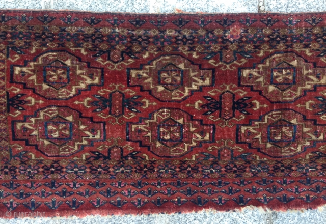 Mid 19th Century Very Fine Tekke Torba size 30x69 cm as found