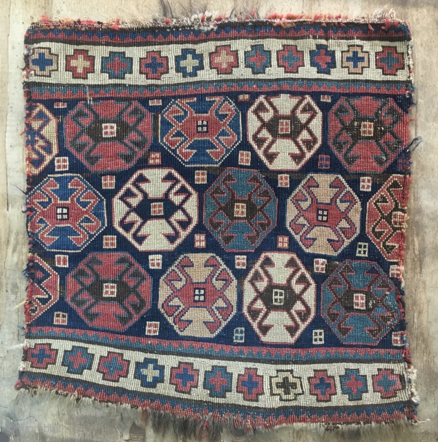 Ca.1900 Antique Shahsavan Sumak Panel, size:55x50 cm.   1.10x1.8 ft wonderful natural colours