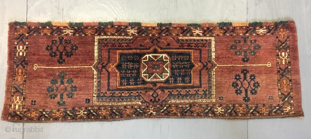Ca.1880 Ersari Torba, wonderful natural colours, size 55x163 cm 1.10x5.5 ft