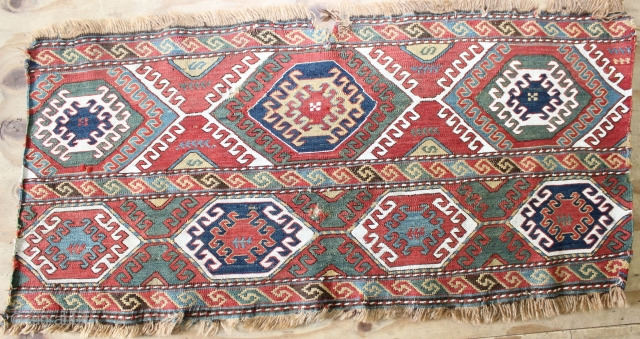 Colourful Shahsavan Sumak Mafrash,Natural colours,size:50x106 cm 1.8x3.6 ft