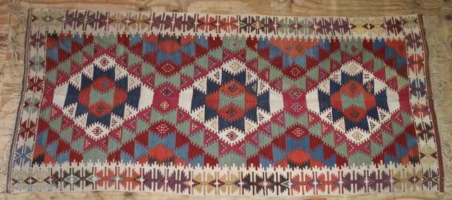 ca.1880 wonderful Anatolian Kilim ,,amazing Natural colours,,size350x156 cm  11.6x5.2 ft