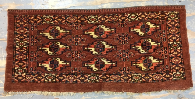 Antique Yomut Chuval 50x105 cm 1.8x3.6 ft