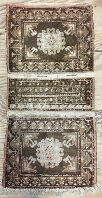 Ca.1900 Rare Antique Tibet Khorjin with camel hear , size 125x63 cm