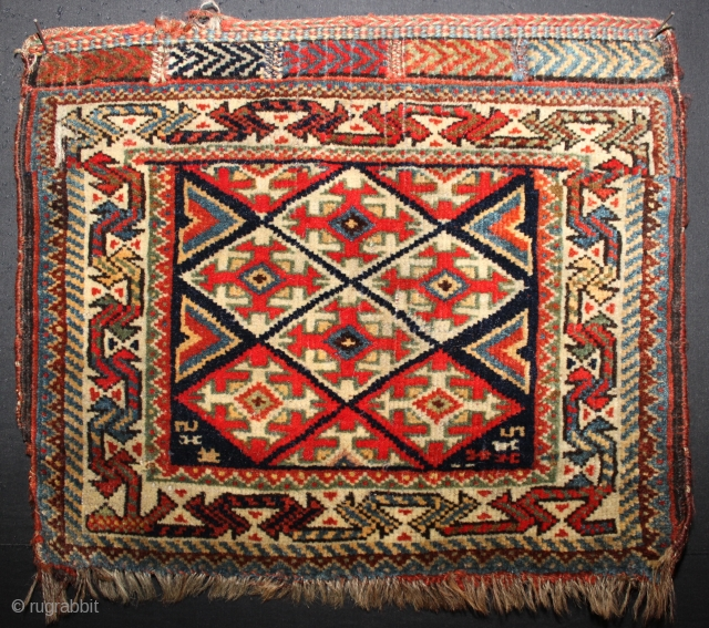 ca.1900 wonderfull Kashqai bagface,,wonderful Natural colours,,size:34x39 cm 1.2x1.4 ft