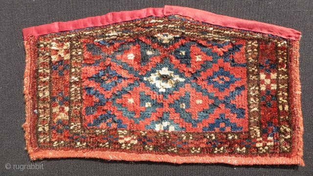 Turkmen ersari ceremonial camel knee pad trappings.size32x18cm