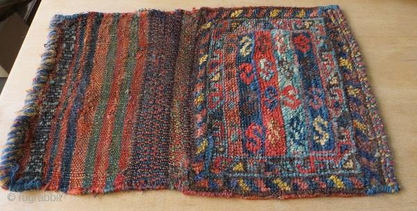 Qashqai Chanteh 1880circa all right color -size 25x44cm with Kilim
