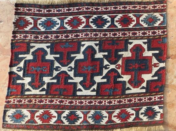 very fine Shahsevan sumak Mafrash Panel 1880 circa,size 40x50cm