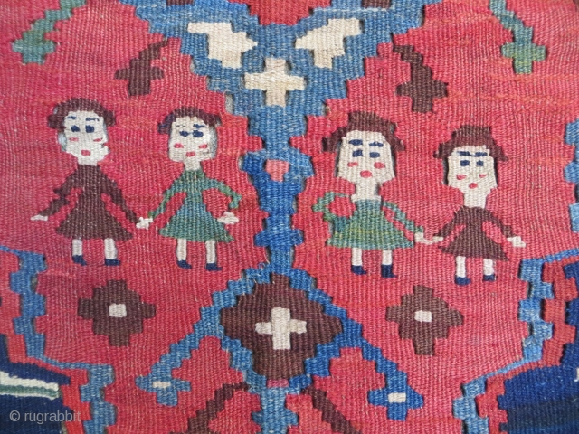 N.W persian antique Kilim in very good condition and all good colors Size 290x140cm