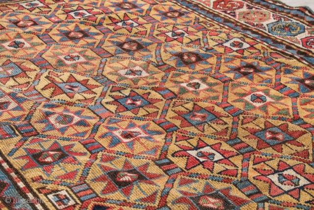 Antique Caucasian Kazak Gendje rug circa 1900, size 198x132cm.