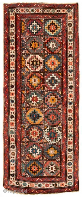 Antique Caucasian Karabagh Moghan rug late 19th century, size 272x107cm