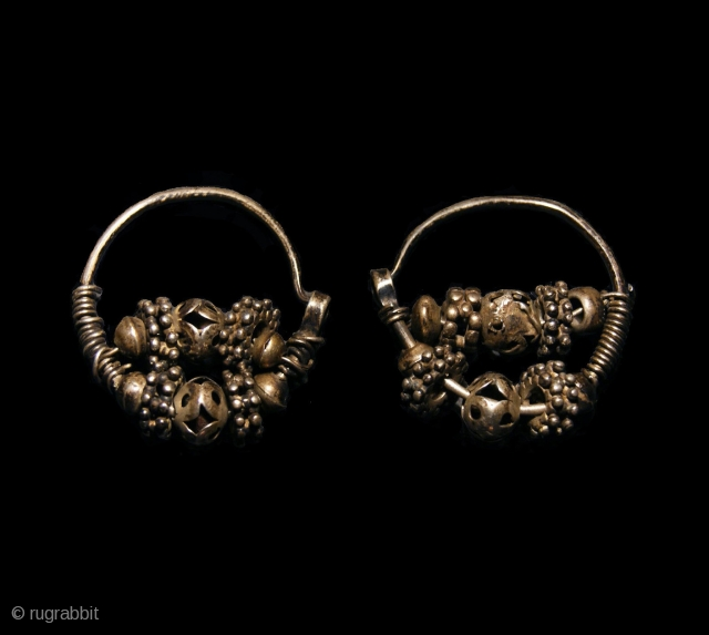 Old Uzbek Silver Earrings