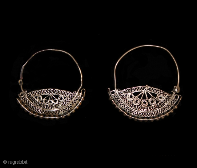 Silver Iranian Earrings