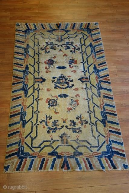 Antique Ningxia rug 220x132cm.