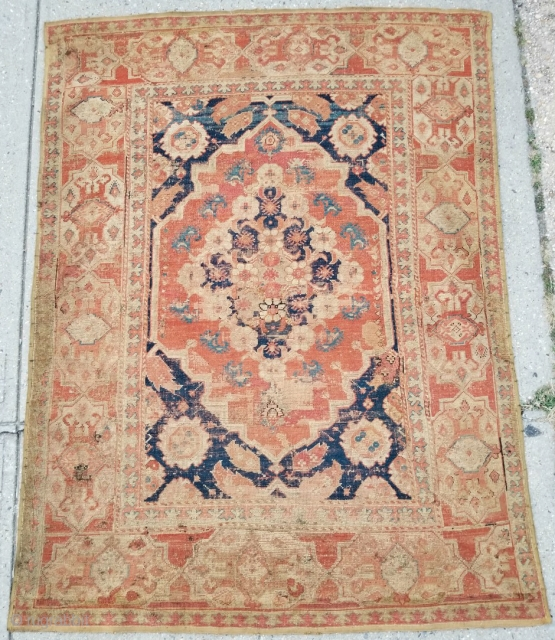 Transylvanian type 17th century west Anatolian rug.