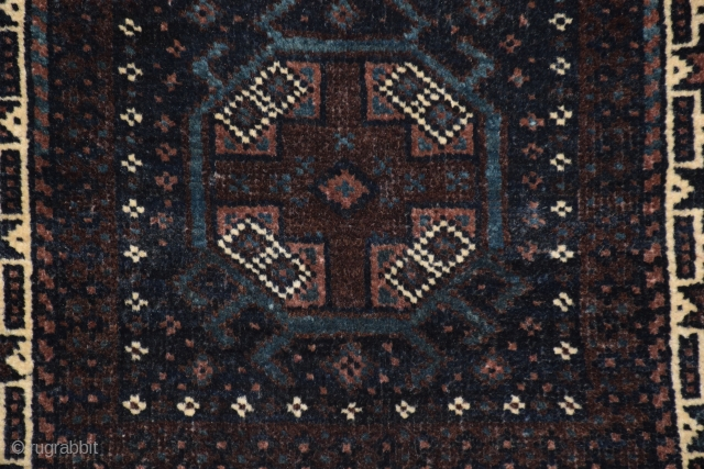 "Hazara-Baluch chanteh, 17"" x 16"" (43 x 40 cm)(+/-), from the Collection of Michael Craycraft, excellent condition, full pile, no repairs, all natural dyes, the imagination and unusual use of color sets  ..."