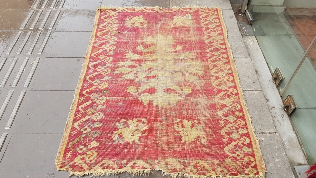 Size: 103x145(cm), Middle anatolia,  Over 150 years old, Fragment