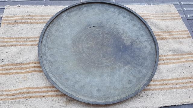 Size : 85 x85 (cm), East anatolian Armenian metal dish