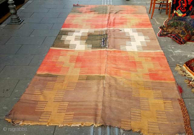 Size : 180 x 380 (cm), Middle anatolia (sivas) kilim .