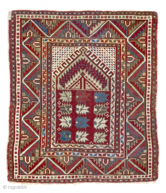 Anatolian Prayer Rug, 100x112 cm