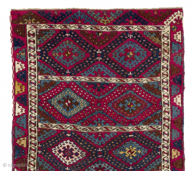 Kurdish Rug, East Anatolia, late 19th Century. 3.9 x 7.3 Ft  (114x221)