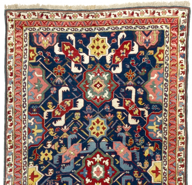An Alpan Kuba Runner from Out of this World! Acquired from a private collection in California. 4x11 ft (116x333 cm.). 19th Cen. Please enquire for more info.